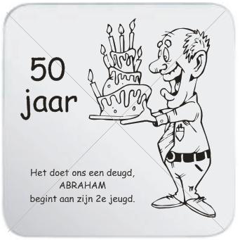 abraham 50 jaar kleurplaat